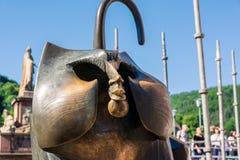Heidelberg-Affe-Gesichts-berühmter Statuen-Anblick-Besuchs-Bestimmungsort Tra Lizenzfreies Stockfoto