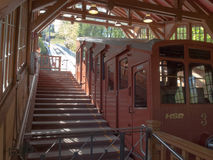 Heidelberg, Bergbahn kormarkt-Molkenkur Stock Afbeeldingen