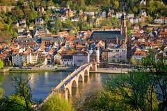 Heidelberg bij de lente stock fotografie