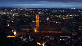 Heidelberg bij nacht Royalty-vrije Stock Foto