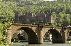 Heidelberg Bridge and Castle Stock Photos