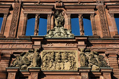Heidelberg Castle. Close Up Detail Facade of Historical  Schloss Royalty Free Stock Image