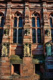 Heidelberg Castle. Front of Heidelberg Castle facing the village. Here is some detail of the facade Stock Photos