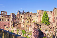 Heidelberg Castle. View of the old ruins of Heidelberg Castle, Baden-Wuerttemberg, Germany Royalty Free Stock Photos