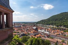 Heidelberg from the castle Stock Photos