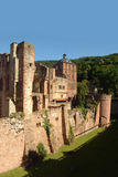 Heidelberg Castle. The Heidelberg Castle, famous ruin and landmark of the beautiful medival city Heidelberg, Germany. In the middle Ruprechtsbau, the towers royalty free stock image