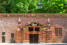Heidelberg Castle. Entrance to the large grotto. Stock Photography