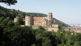 Heidelberg Castle. The famous landmark castle of Heidelberg, Germany, as seen from the eastern side stock video