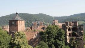 Heidelberg Castle. The famous landmark castle of Heidelberg, Germany, as seen from the northern side stock video footage