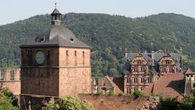 Heidelberg Castle. The famous landmark castle of Heidelberg, Germany, as seen from the northern side stock footage