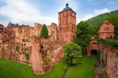 Heidelberg castle fragment view during daytime. Heidelberg castle fragment  view during daytime and summer in Heidelberg, Germany Royalty Free Stock Photos