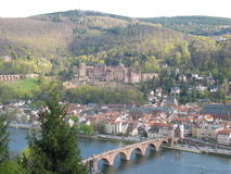 Heidelberg castle, Germany. Heidelberg castle and the town royalty free stock photos