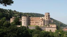 Heidelberg Castle. The famous landmark castle of Heidelberg, Germany, as seen from the eastern side stock footage