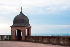 Heidelberg castle observation point Royalty Free Stock Photos