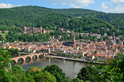 Heidelberg Castle, old town and Neckar River Stock Image