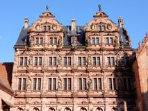 Heidelberg Castle  – palace in renaissance style - Ottheinrich building façade with portrait gallery – Germany Stock Photos