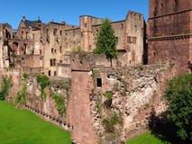 Heidelberg castle ruin facade royalty free stock photo
