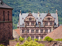 Heidelberg Castle ruins. Heidelberg Castle ( Heidelberger Schloss) is a famous ruin in Germany and landmark of Heidelberg. The castle ruins are among the most Royalty Free Stock Image