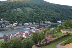 Heidelberg from a castle view Stock Photography