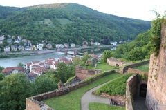 Heidelberg from a castle view Royalty Free Stock Photos