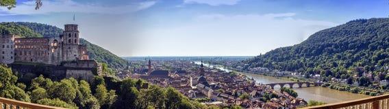 Heidelberg city and Neckar river, Germany Stock Photos