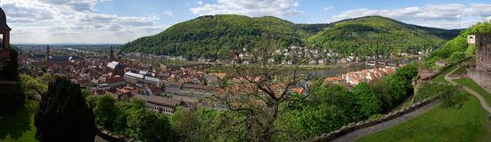 Heidelberg city panorama, Germany Royalty Free Stock Photography