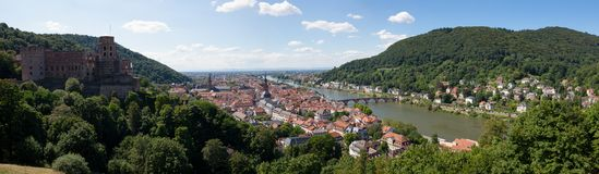 Heidelberg city panorama Royalty Free Stock Photography