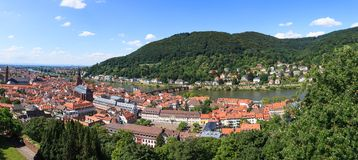 Heidelberg city panorama Royalty Free Stock Photo