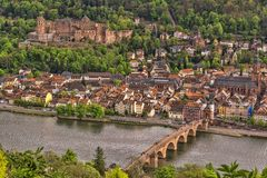 Heidelberg is a city in southern Germany, in the northwestern part of the federal province of Baden-Württemberg stock photo