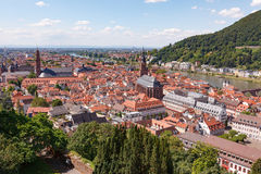 Heidelberg city at sunny summer day Royalty Free Stock Images