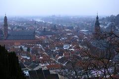 Heidelberg dal castello immagini stock