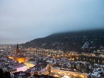 Heidelberg in de winter royalty-vrije stock afbeelding