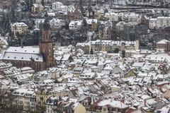 Heidelberg in de Winter Royalty-vrije Stock Foto