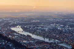 Heidelberg del top Imagenes de archivo