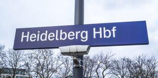 Heidelberg, Deutschland - 11. Februar 2018: Zeichen des Heidelberg-Hauptanschlusses Stockfoto