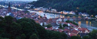 Heidelberg at Dusk Stock Images