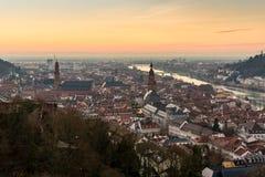 Heidelberg en la puesta del sol Fotografía de archivo libre de regalías