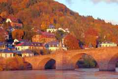 Heidelberg in fall Royalty Free Stock Images