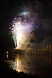 Heidelberg: fireworks at Schlossfest - Germany Royalty Free Stock Photo