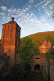 Heidelberg Fortress. Watch Tower and drawbridge house at Festung Heidelberg, Germany Royalty Free Stock Photos
