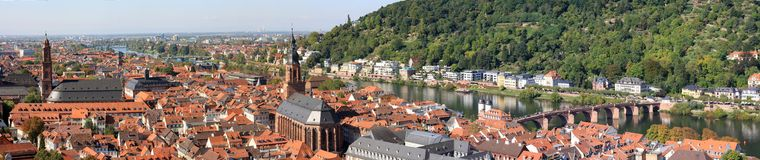 Heidelberg in Germany. The historic town of Heidelberg in Germany stock images
