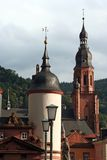 Heidelberg, Germany. Roof Tops and Towers of Old Heidelberg, Germany in Late Afternoon stock photos