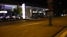 People drive car on the road from  Heidelberg old town go to Sandhausen. HEIDELBERG, GERMANY - AUGUST 27 : People drive car on the road from Heidelberg old town stock video footage
