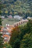 Heidelberg, Germany. The bridge over the river Neckar Stock Images