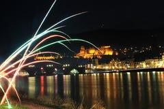 Heidelberg Germany. Heidelberg city in Germany in a new year night Royalty Free Stock Photography