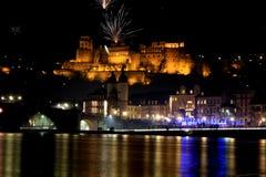 Heidelberg Germany. Heidelberg city in Germany in a new year night Stock Photo