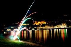 Heidelberg Germany. Heidelberg city in a new year night Royalty Free Stock Photography