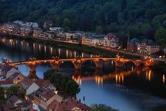 Heidelberg, Germany night view Stock Photo