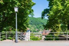 Heidelberg Hills Green Landscape Heiliggeistkirche German Destin Royalty Free Stock Photography