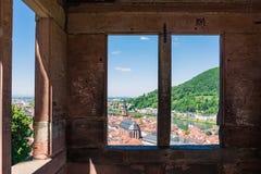 Heidelberg Hills Green Landscape Heiliggeistkirche German Destin Royalty Free Stock Image